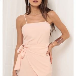 Lucy in the Sky double tie wrap dress in blush S